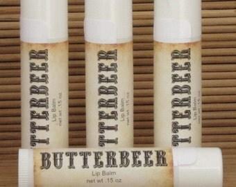 Butterbeer Lip Balm 4 Pack - Handmade Lip Balm - Homemade Lip Balm
