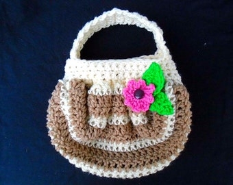 CROCHET PATTERN, Tan striped Fat Bottom Bag, make it any size, Super easy method, one skein project, #844, bags and purses