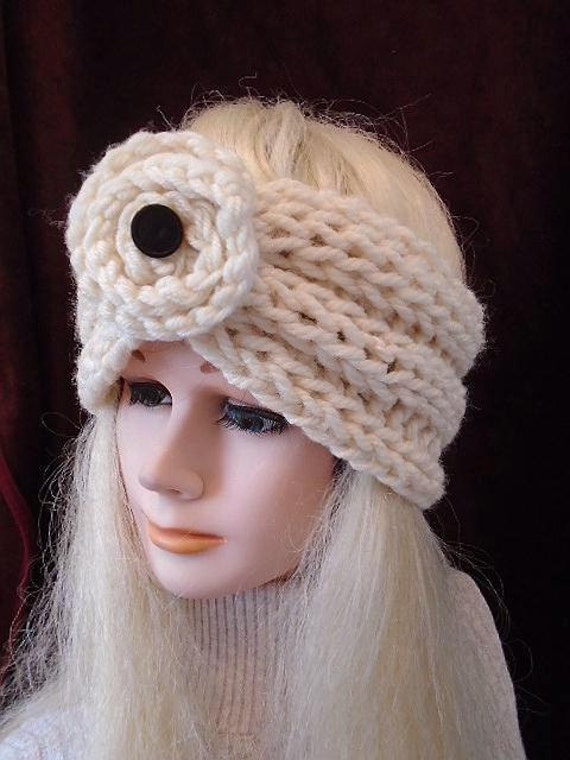 Knitting Pattern Ribbed Headband : Chunky style Ribbed Turban Headband KNITTING PATTERN Knit