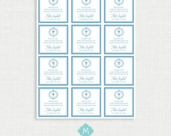 Printable Baptism Favor Tags - Favor Tags - Thank You Tags - Christening - Party Tags- Digital Printable