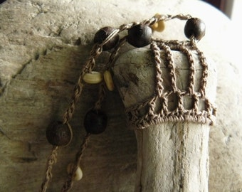 Bohemian Jewelry . Petrified wood jewelry . Petrified Wood Necklace .Petrified Bone . Fossilized Bone . Fossilized Wood