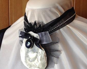 Handmade sea shell brooch / pendant