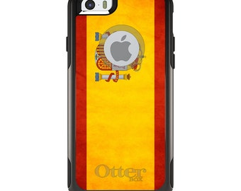 OtterBox Commuter for Apple iPhone 5S SE 5C 6 6S 7 8 PLUS X 10 - Custom Monogram - Any Colors - Spain Old Spanish Flag