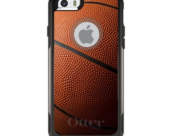 OtterBox Commuter for Apple iPhone 5S SE 5C 6 6S 7 8 PLUS X 10 - Custom Monogram - Any Colors - Basketball Photo