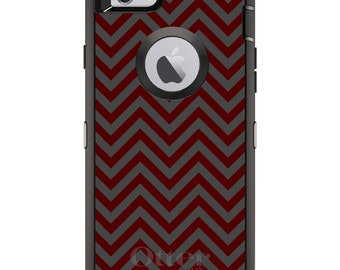 CUSTOM OtterBox Defender Case for Apple iPhone 6 6S 7 8 PLUS X 10 - Personalized Monogram - Texas A&M Aggies Colors - Gig 'Em - Chevr