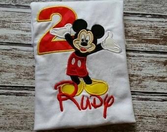 Mickey Mouse - Custom Age - Birthday Shirt