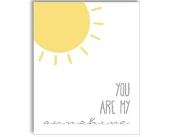 You Are My Sunshine Nursery Printable