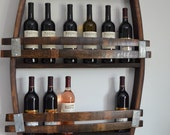 Wine Barrel wine rack 12-14  wine bottles! made from reclaimed wood wine barrels