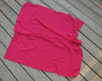 Hot Pink Gauze Swaddling Blanket - Muslin Receiving Blanket - Swaddling Blanket - Pink Baby Blanket - Hot Pink Swaddling Blanket - Made 4U