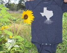 Texas Roots Onesie