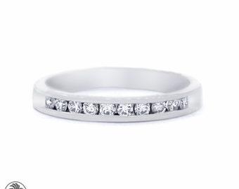 Ring, Diamond Anniversary Band, Diamond Wedding Band, Channel Set Ring With Diamonds, Diamond Band, Gold Band | LDR02071