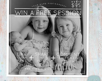 Facebook Promotion Like Share Comment Promotion Marketing Board - Photoshop template - IB005 - INSTANT DOWNLOAD
