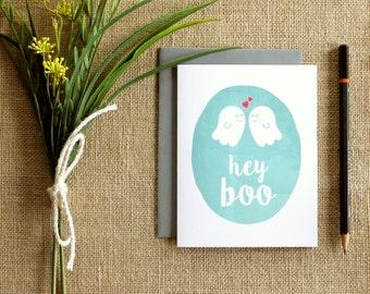 Hey Boo greeting card / blank inside