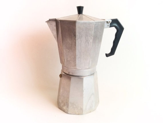 Vintage Coffee Maker Express Coffee Large Stove top by Lunartics