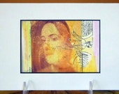 Polaroid Photograph Women Double Exposure Collage Matted Ready to Frame OOAK