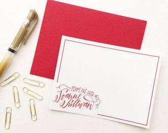 Custom Hand Lettered Stationary - Letterhead - Thank You Cards
