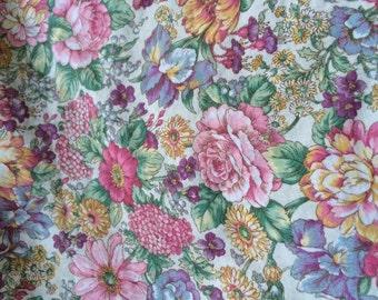 victorian flower quilt 44 1/2 by 38
