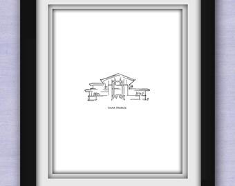 Dana Thomas House (Frank Lloyd Wright) Print
