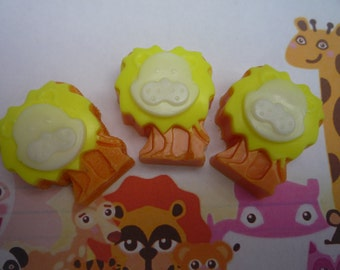 jungle lion novelty soaps x 3 handmade by soapKraft