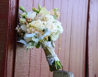 Fresh Wedding Flowers/ Bridal Bouquet. Example Only For Local Brides (Not for Sale). Farm/Barn Wedding. Shabby Chic Wedding. Rustic Wedding.