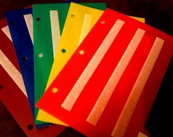 New colorful Divider set of 5 for Loose Pecs or staying organized, Autism, ABA, Speech therapy, ADHD, Language, Apraxia, & Aspergers