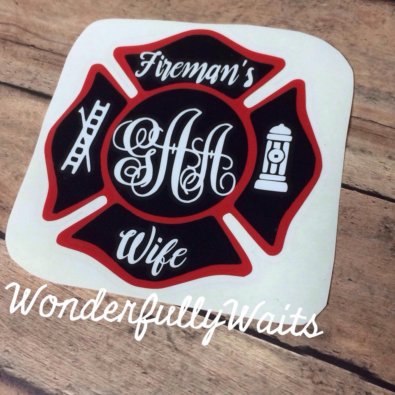 Firefighter Wife Wifey Fire Wife Decal Fireman S