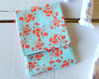 Tampon Holder, Pad/Pantiliner Case For Your Purse in Riley Blake Kensington Print