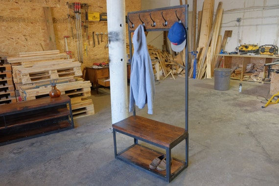 Gallagher Entryway Preacher Bench W Clothing Rack And 2