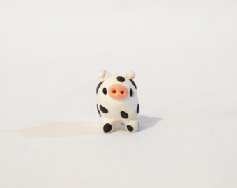 Cow Pig - Polymer Clay Miniature Kawaii Style