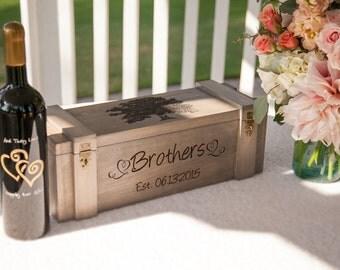 Wine Box, Custom Wine Box, Wedding Wine Box, Wedding Gift, Anniversary Gift