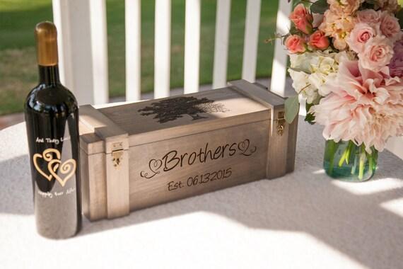 Wedding Gift Box Wine : Wine Box, Custom Wine Box, Wedding Wine Box, Wedding Gift, Anniversary ...