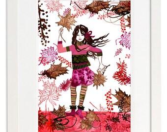 Autumn Jasmin Art Print