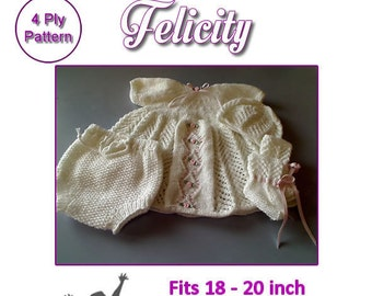 FELICITY Knitting pattern to fit Reborn doll 18 to 20 inch