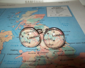 hand made town village cuff links choose your town or village