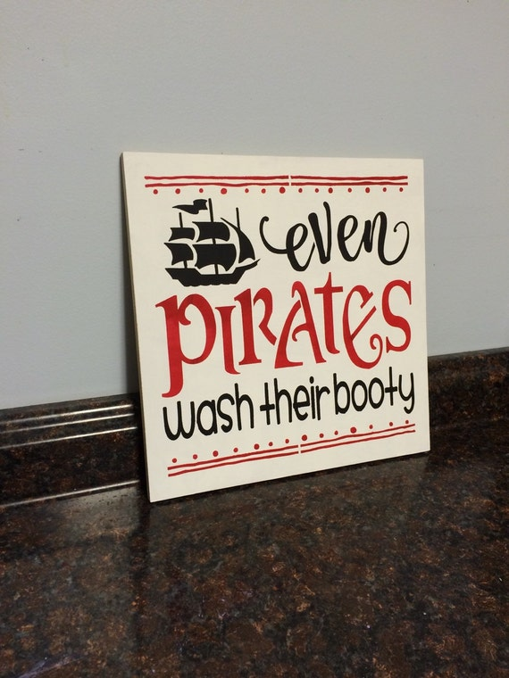 Items similar to pirate bathroom pirate decor pirate for Pirate bathroom ideas