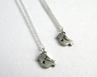 Baby Bird necklace in sterling silver
