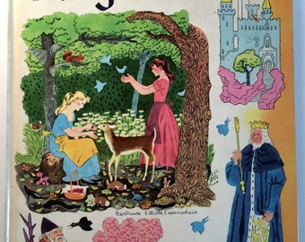 Grimm's Fairy Tales Book - Hardcover - Copyright 1955