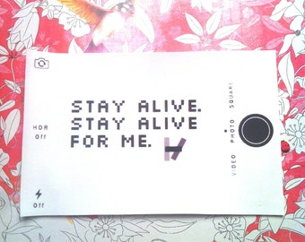 Stay Alive For Me Sew On Patch