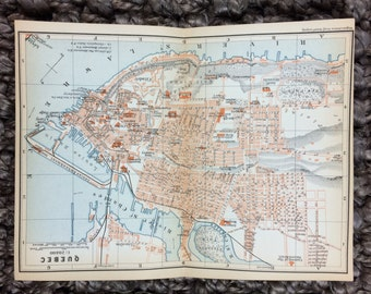 Quebec, Canada - 1907 Vintage map [8 x 5.8 in.] Original - Not a Reproduction