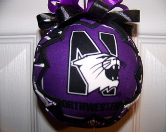 Northwestern University/ Wildcats Quilted Ornament