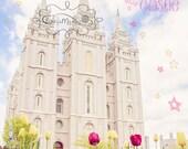 LDS Wall Art - Every Princess Needs a Castle {Salt Lake Temple Print}