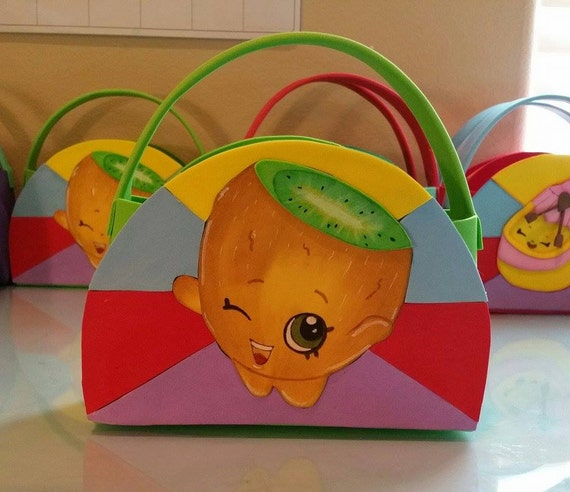 Shopkins Birthday Party - Pee Wee Kiwi Shopkins Party Favor Bags (Set ...