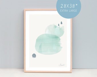 Extra Large Wall Art, Contemporary Wall art, Abstract Art, Contemporary Prints, Abstract Art, Large Poster, Raindrops, Relaxation Poster