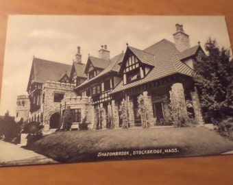 Vintage shadowbrook stockbridge massachusetts Postcard Free Shipping