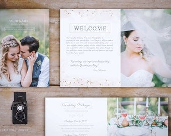 Wedding Magazine Template - Wedding Photography Magazine Template - Photography Marketing Magazine - Bokeh Photography wedding guide