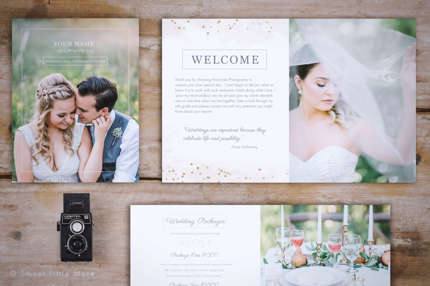 Wedding magazine template wedding photography magazine for Wedding photography brochure template