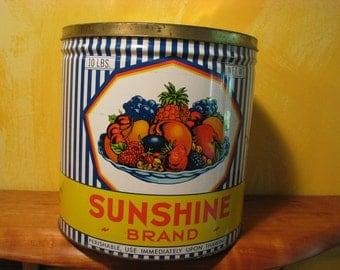 Vintage Colorful Sunshine Brand Tin