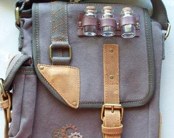Time Travelers Satchel ~ Steampunk Gear Cross Body Bag