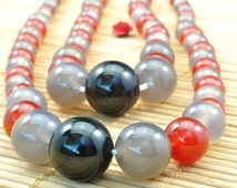 15.6 inches of  Rainbow Agate smooth round tower necklace,DIY handmade wholesale beads in 6-14mm