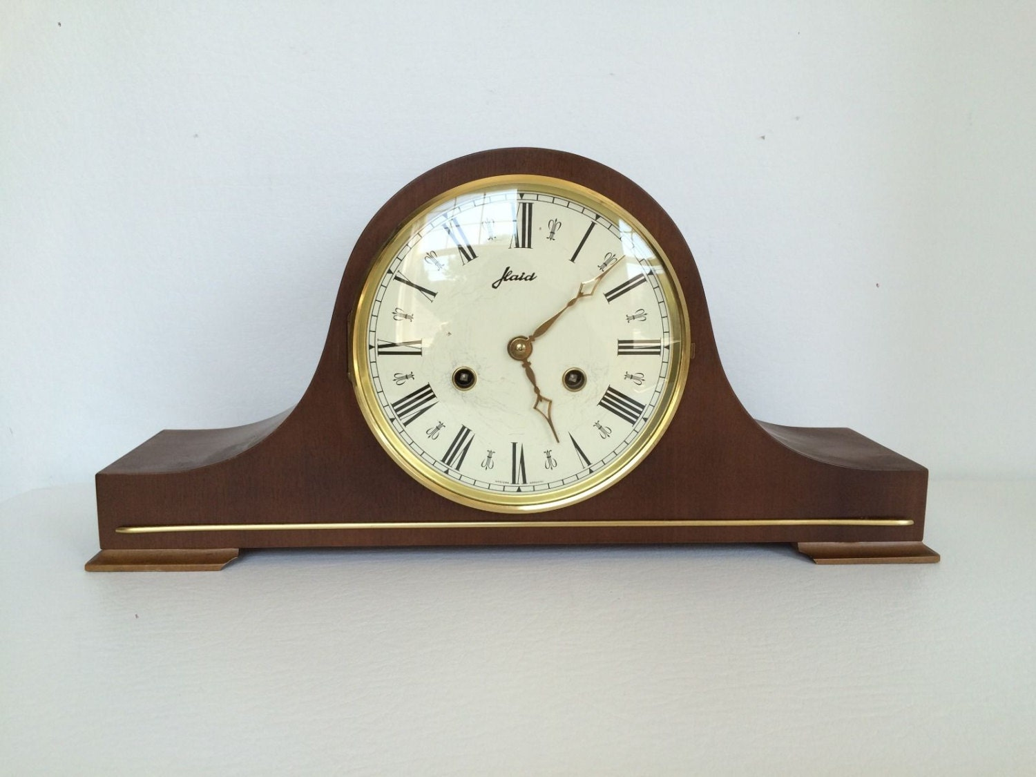 Vintage Haid 8 Day Wind Up Mantle Clock Made In By